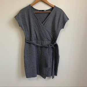 Rebel Sugar Grey Wrap Style Dress